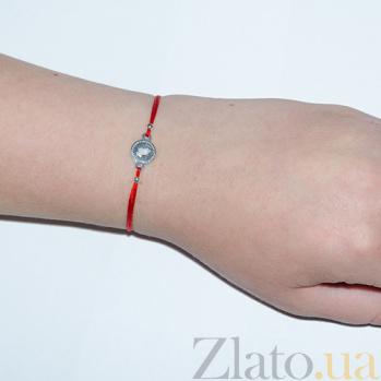 Шелковый браслет со вставкой Молитва 000023949