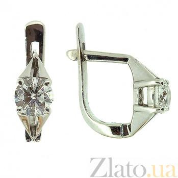 Золотые серьги с бриллиантами Аврил ZMX--ED-6266\24w_K