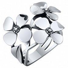 Серебряное кольцо Цветы сирени