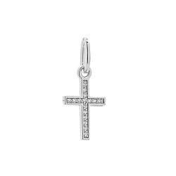 Серебряный крестик Надежда с фианитами 000054188