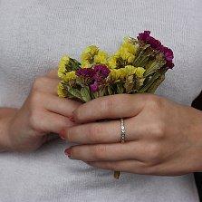 Серебряное кольцо Одри с фианитами