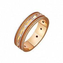 Золотое обручальное кольцо Комплимент с фианитами