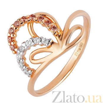 Золотое кольцо  из красного золота Увертюра TRF--1124299