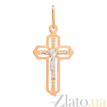 Золотой крестик Вечная жизнь SUF--510601рш