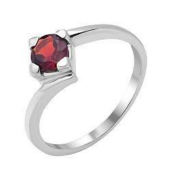 Серебряное кольцо с гранатом 000117803