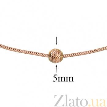 Золотой браслет на ногу Тонда LEL--41603