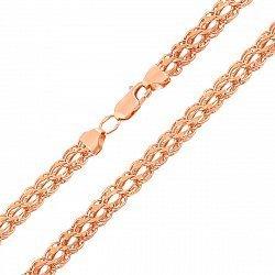 Цепочка из красного золота в плетении Бисмарк 000129711