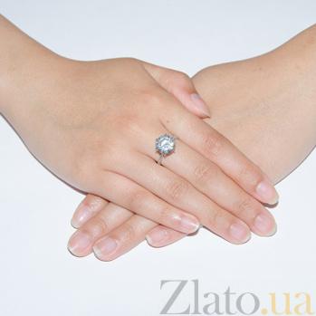 Серебряное кольцо Южные звезды с фианитом AUR--71755б