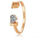 Золотое кольцо IloveU свободного диаметра