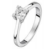 Золотое кольцо Трейси в белом цвете с бриллиантом