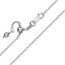 Серебряная цепочка в шариковом плетении 000127684