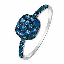 Золотое кольцо Барвинок с лондон топазами