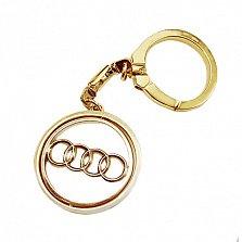 Автомобильный брелок Audi из красного и желтого золота