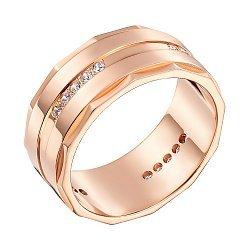 Обручальное кольцо из красного золота 000006448