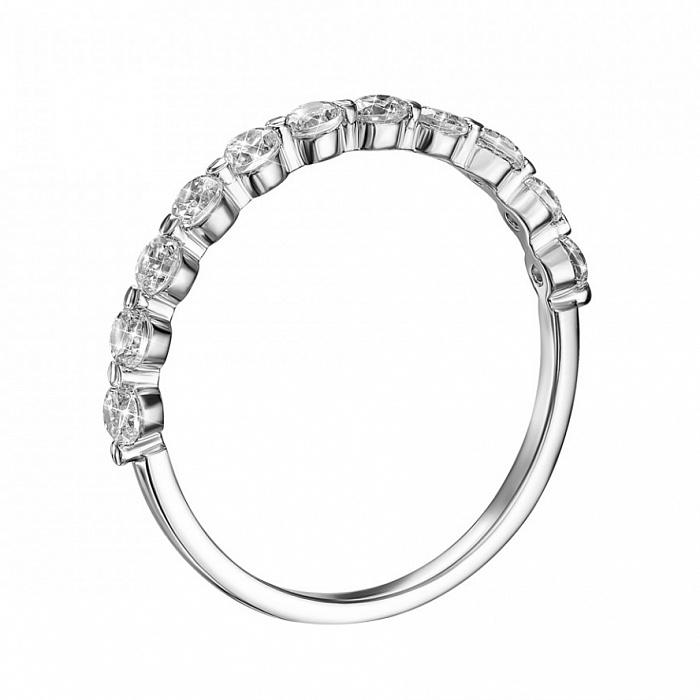 Кольцо из белого золота с фианитами 000132332 000132332