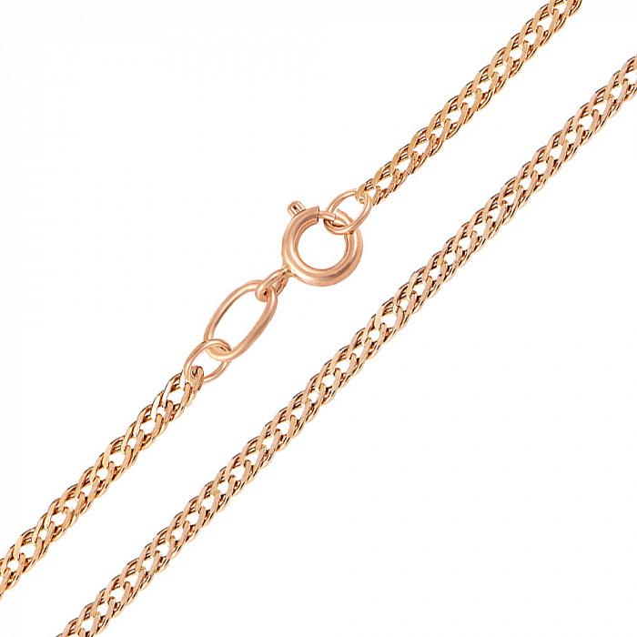 Цепь из красного золота Ремина в плетении ромб 000104300