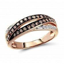 Кольцо из красного золота Ирен с бриллиантами