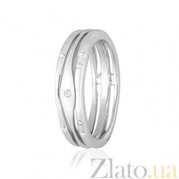 Серебряное кольцо с фианитами Мерцание звезд 000028103