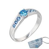 Серебряное кольцо с кристаллами Swarovski Аврора