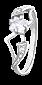 Серебряное кольцо с цирконием Велия 000025824