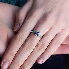Кольцо из белого золота с сапфиром Елизавета