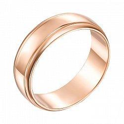 Обручальное кольцо из красного золота 000000311