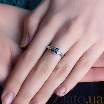 Кольцо из белого золота с сапфиром Елизавета KBL--К1090/бел/сапф