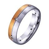 Золотое обручальное кольцо Нежное чувство с фианитами
