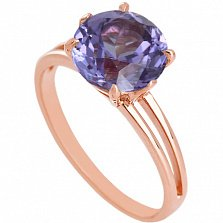 Золотое кольцо с александритом Лазурь