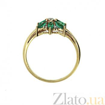 Кольцо в красном цвете золота с изумрудами и бриллиантами Мила ZMX--RDE-5575_K