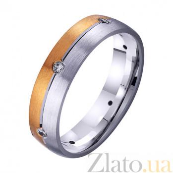 Золотое обручальное кольцо Нежное чувство с фианитами TRF--4421732