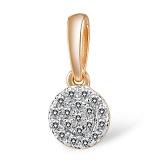 Кулон из золота с бриллиантами Ника