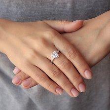 Кольцо из серебра Романтика с фианитами
