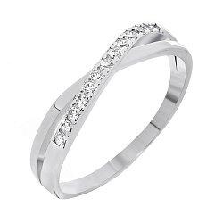 Кольцо из серебра Кларелис с цирконием