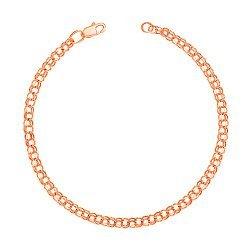 Золотой браслет в плетении бисмарк 000104342