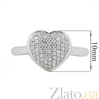 Серебряное кольцо с фианитами Сердце поет 3К543-0005