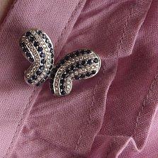 Золотая брошь Бабочка c сапфирами и бриллиантами