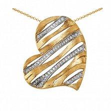 Кулон из золота с бриллиантами Пылающее сердце