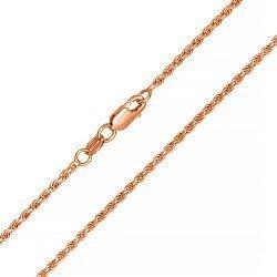 Серебряная цепь с позолотой, 1,5 мм 000039391
