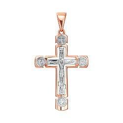 Золотой крестик в комбинированном цвете 000137600