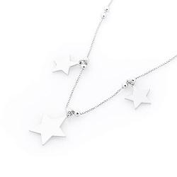 Серебряное колье Три звезды
