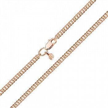 Ланцюжок із червоного золота в плетінні ромб, 2мм 000123277