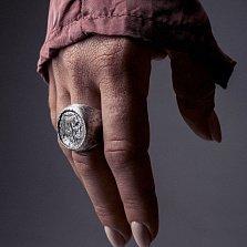 Кольцо из серебра Buffalo с чернением