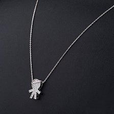 Колье из серебра Малыш с фианитами