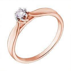 Золотое кольцо с бриллиантом 000053038