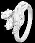 Кольцо из серебра с фианитами Люсиль 000025539