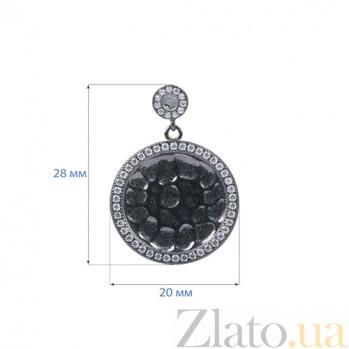 Серебряные оксидированные серьги Темная ночь AQA--MVSE-0225