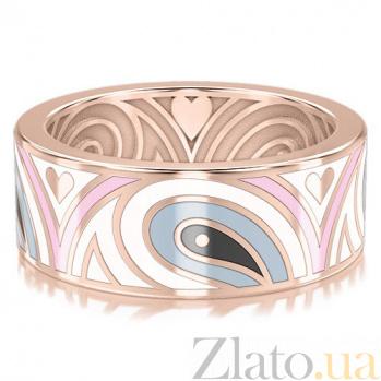 Обручальное кольцо из розового золота Талисман: Гармонии 3307