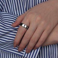 Каучуковое кольцо Арман с серебряной вставкой