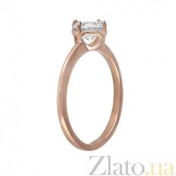 Кольцо из красного золота Милан с фианитом 000022878